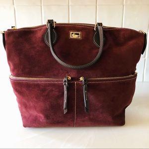 Dooney & Bourke Burgundy Suede Bag